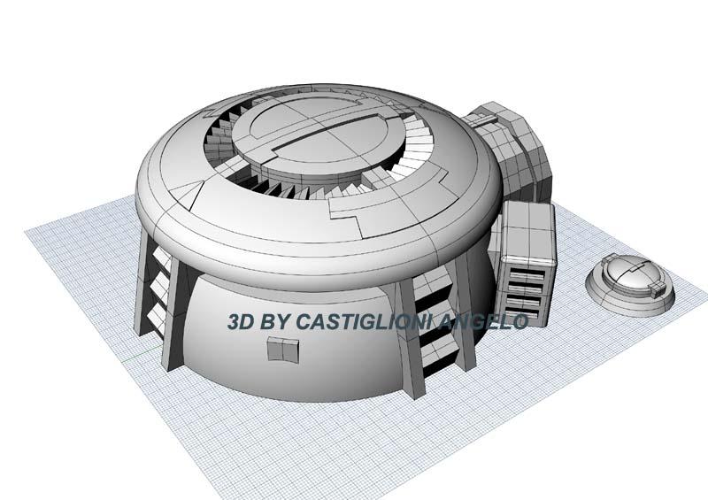 Infantry Tau Bunker 3D STL files for W40K