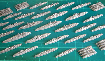 Go to the page list of the Royal Navy Warships Models of the Second World War